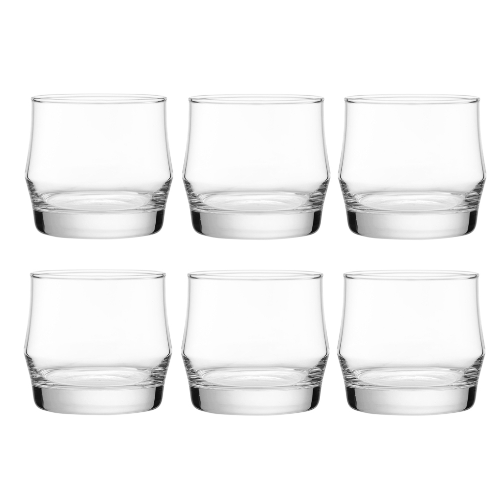 Scirocco Rock: Clear Glass Set: 6pc, 340ml 1