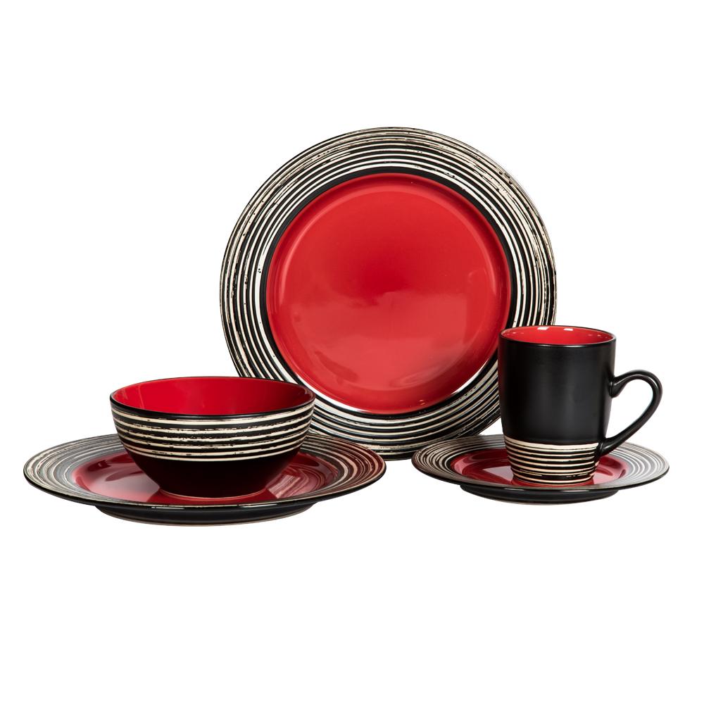 16 Pcs Dinner Set – Tahiti Carmine 1