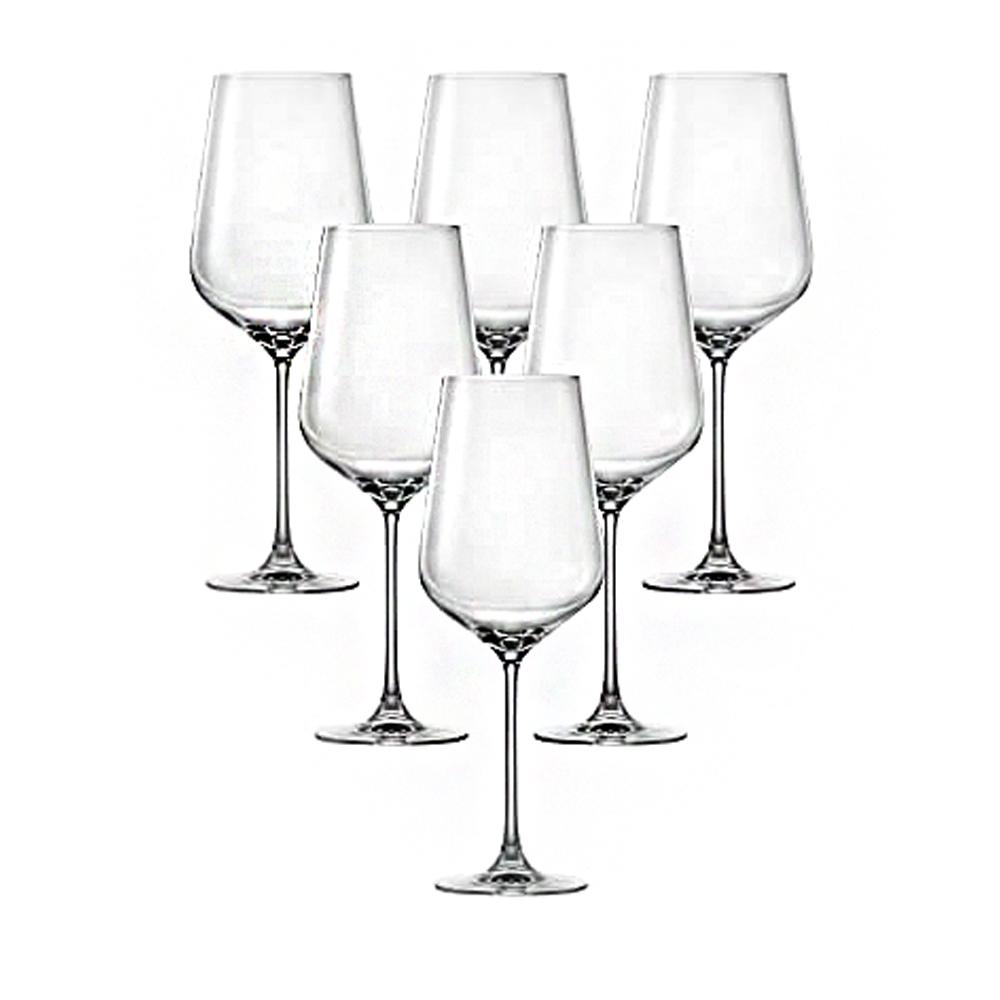 HK HIP-Bourdeaux: Stem Glass Set 770ml: 6pcs 1