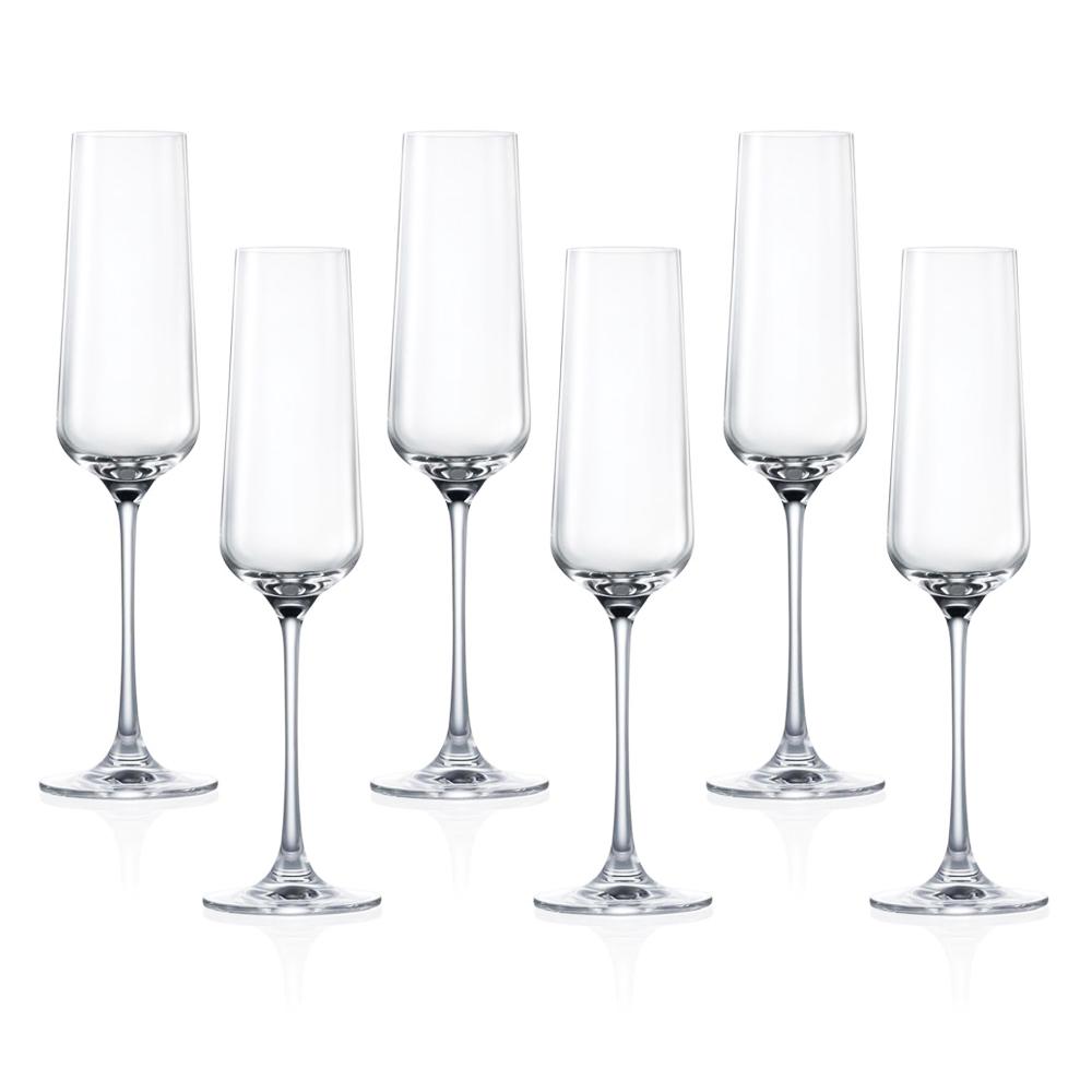 HK HIP-Champagne: Stem Glass Set-270ml: 6pcs 1
