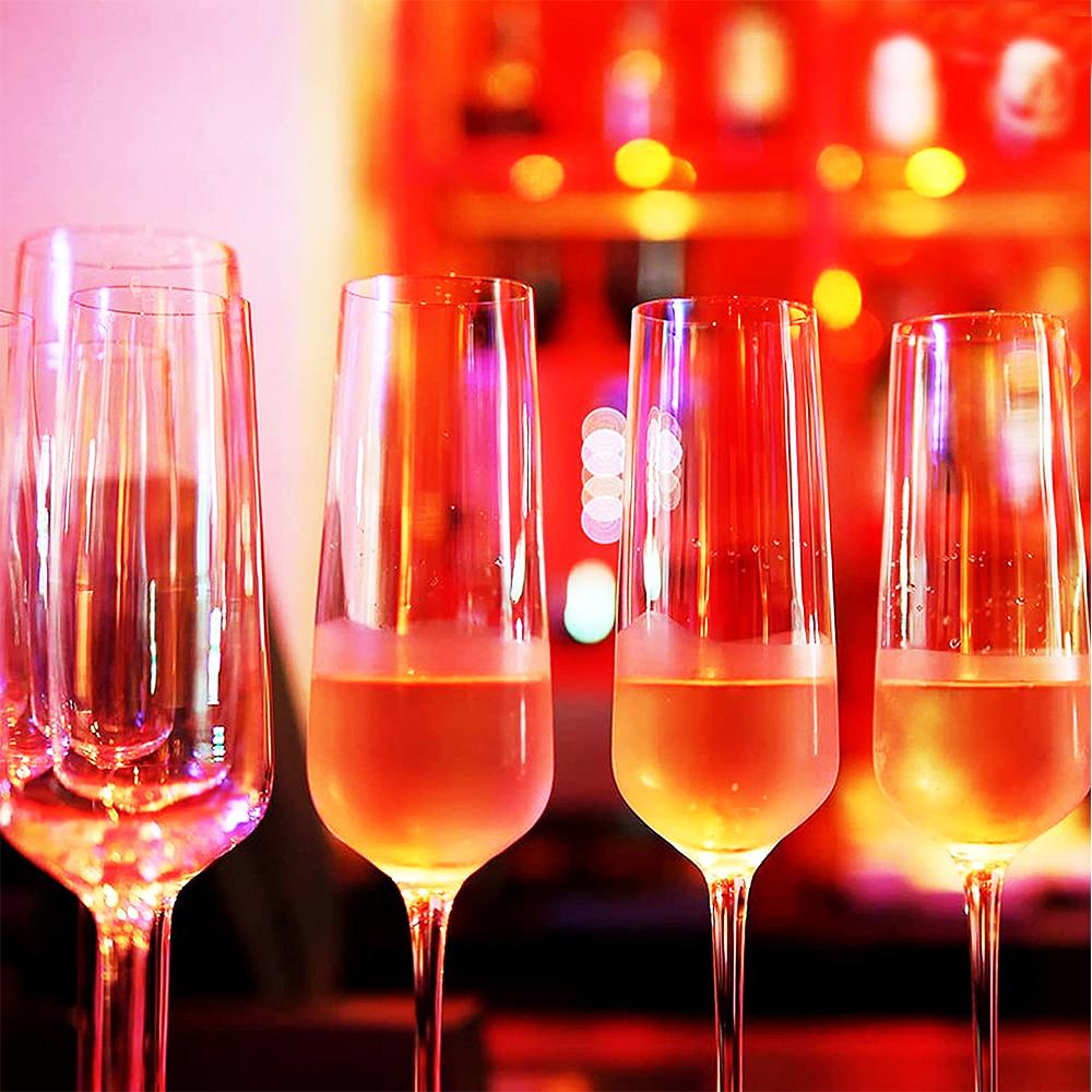 HK HIP-Champagne: Stem Glass Set-270ml: 6pcs