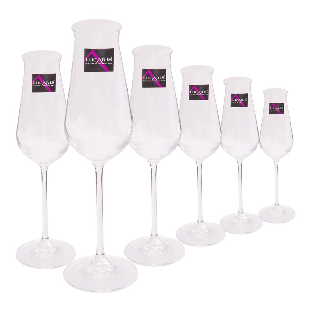 Desire-Sparkling: Stem Glass Set 240ml: 6pcs 1