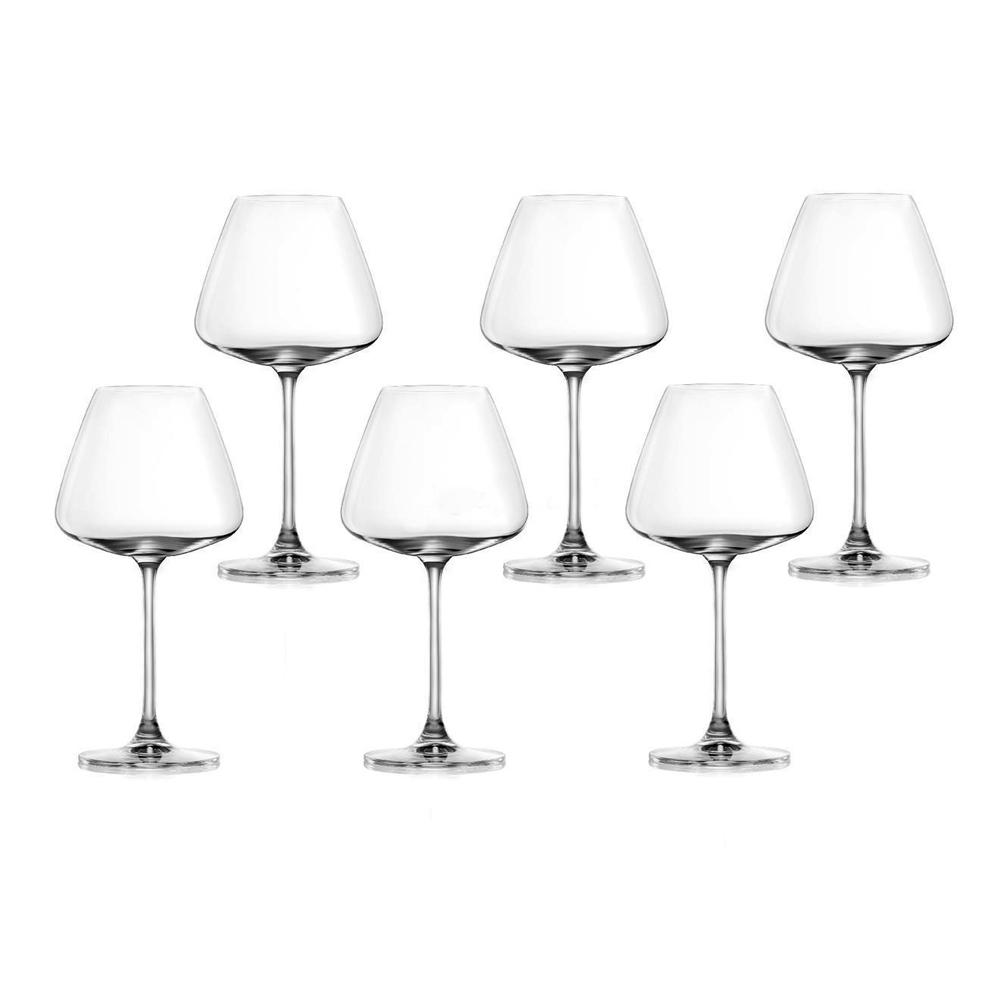 Desire-Elegant Red: Stem Glass Set 590ml: 6pcs 1