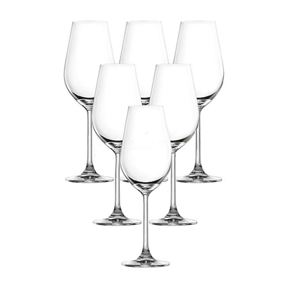 Desire-Crisp White: Stem Glass Set 365ml: 6pcs 1
