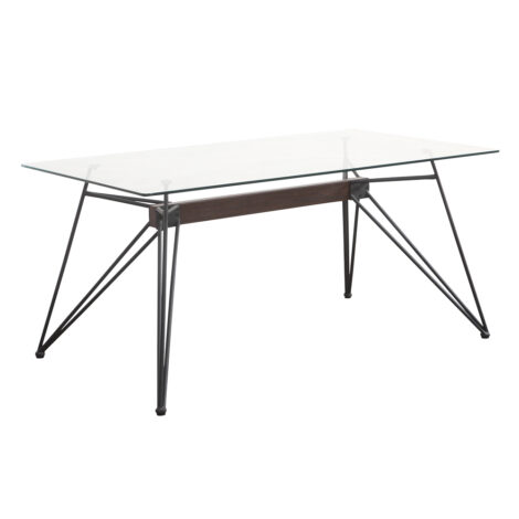 Cessna Dining Table-Glass Top (1.6×0