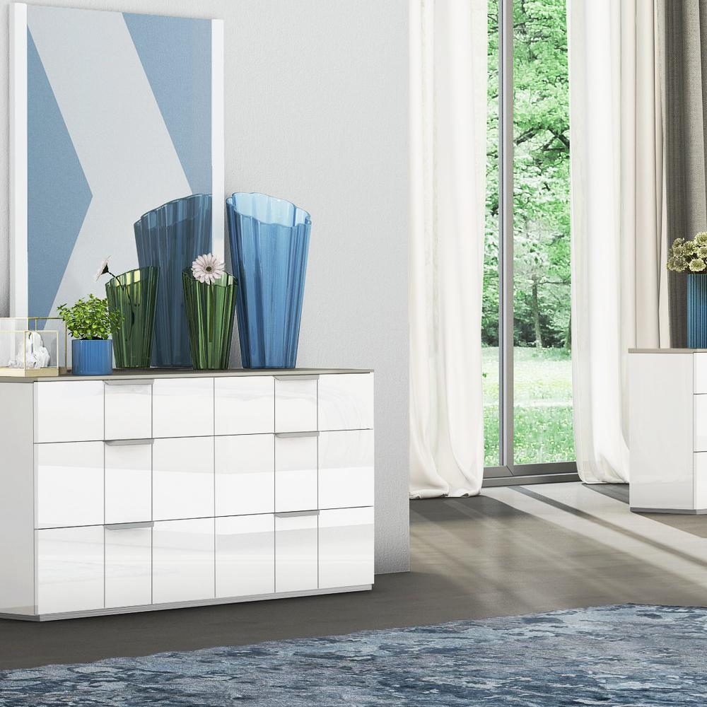 Dresser; (99x42x76)cm, White/Flannel Grey