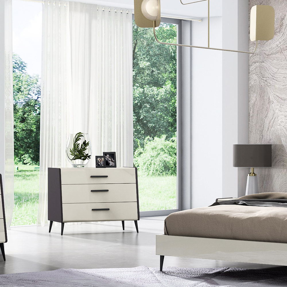Dresser; (99x52x79)cm, Grey Lacquer