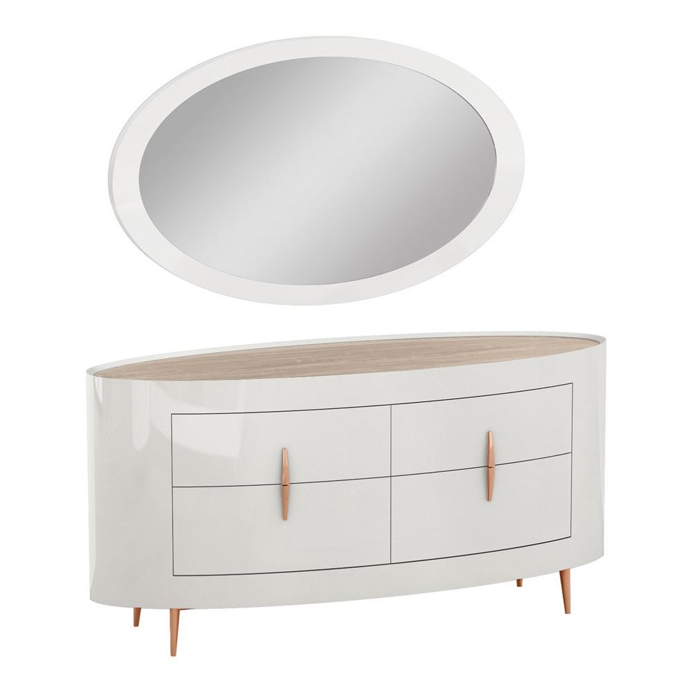 Dresser; (173x61x85)cm + Mirror; (140×3