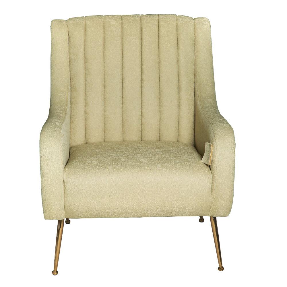 Fabric Arm Chair: 1-Seater- (74x87x94)cm, Green 1