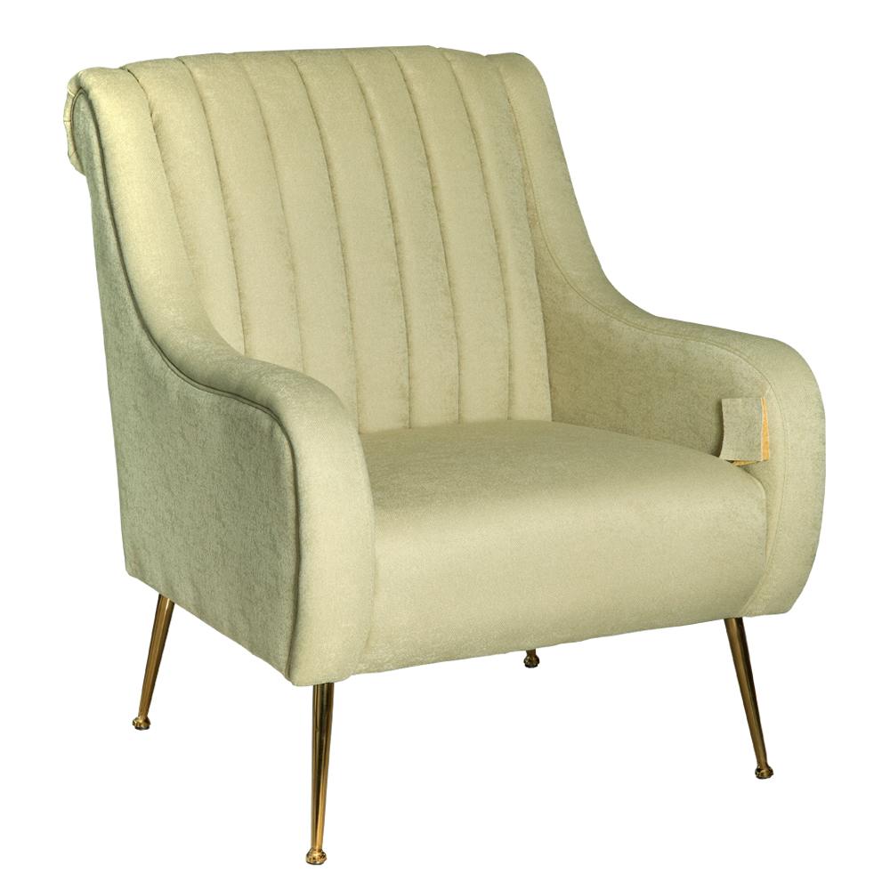 Fabric Arm Chair: 1-Seater- (74x87x94)cm, Green