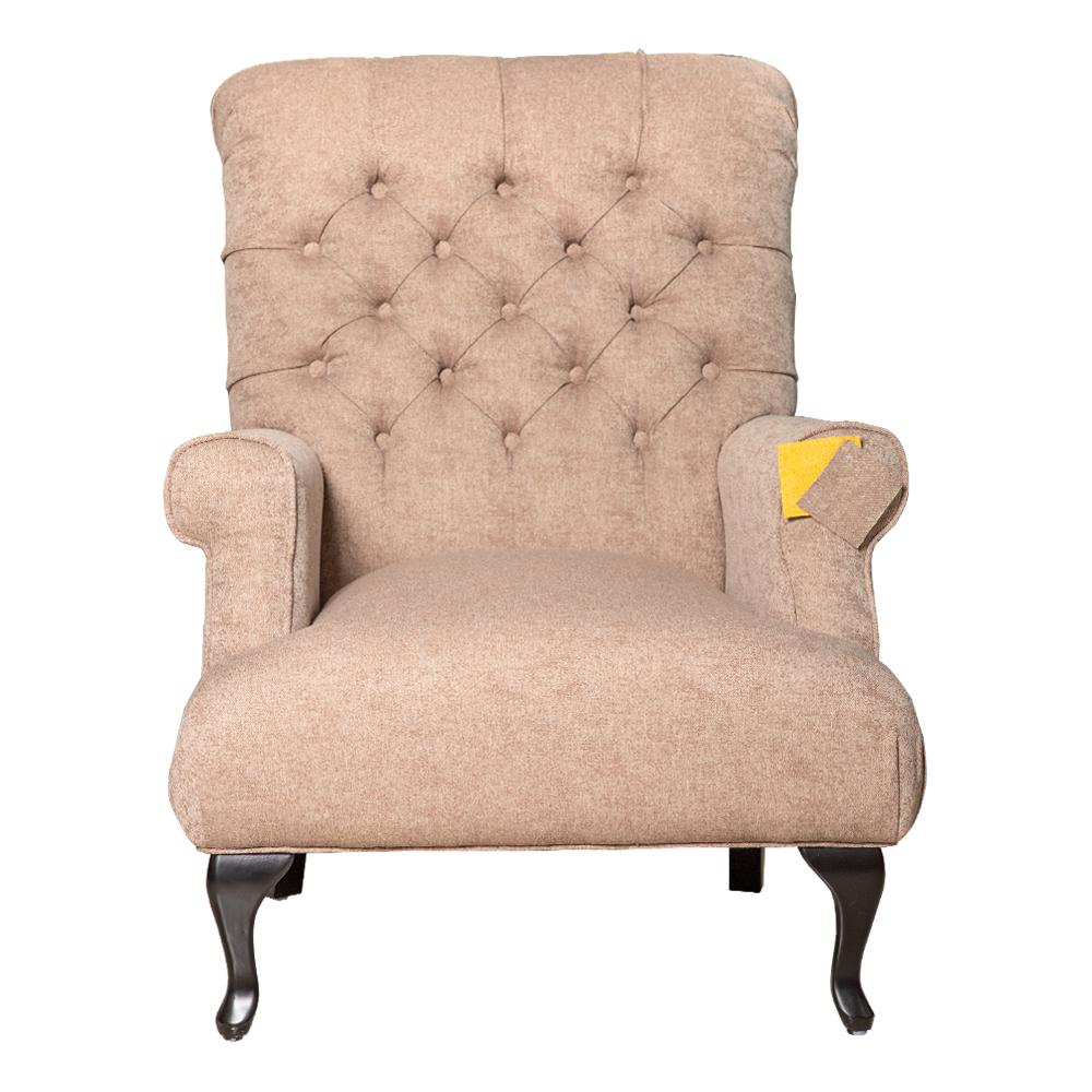 Fabric Arm Chair: 1-Seater- (81x94x105)cm, Chocolate 1