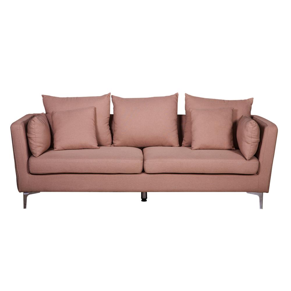 Fabric Sofa: (220×54/87×46/90)cm, Light Gold 1