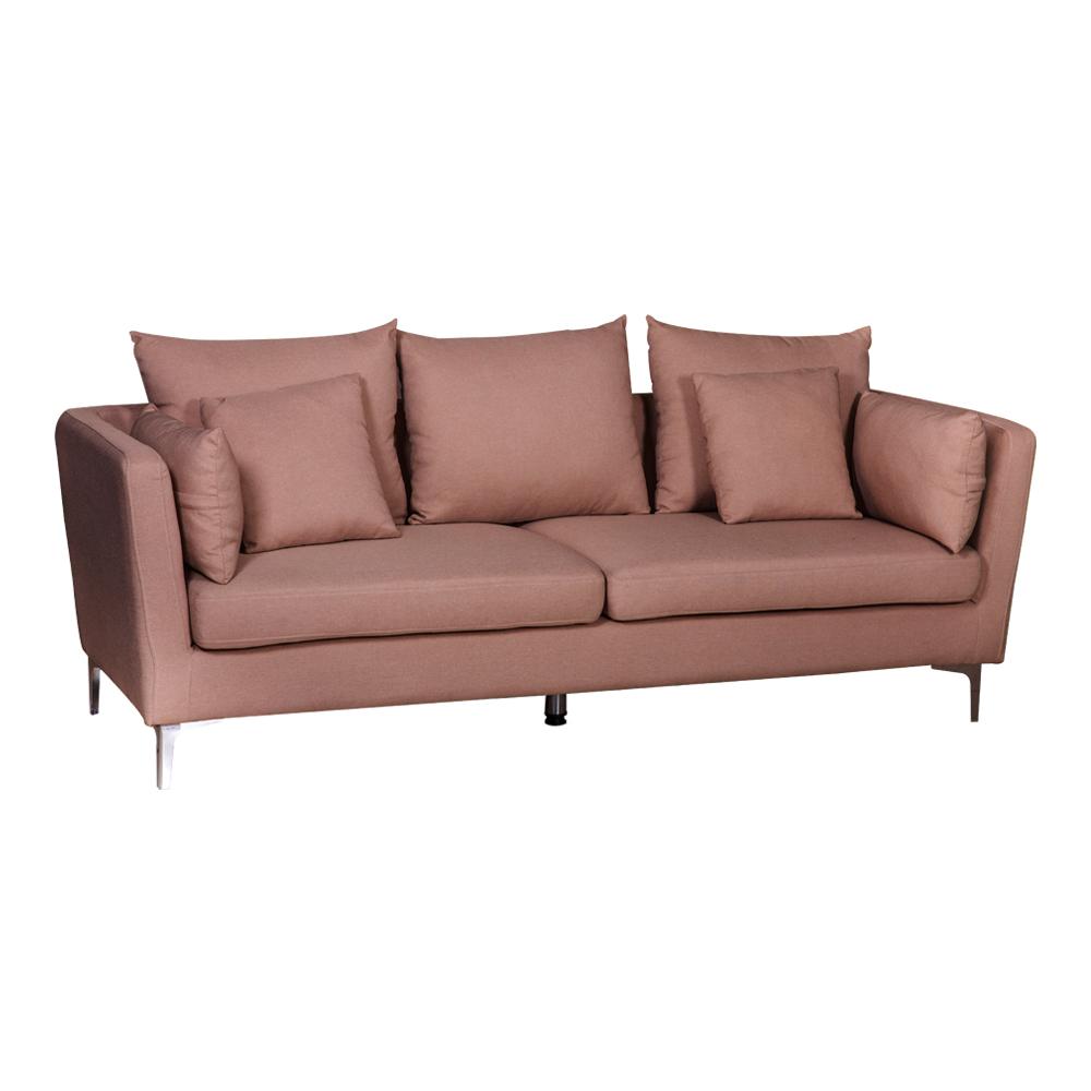 Fabric Sofa: (220x54/87x46/90)cm, Light Gold