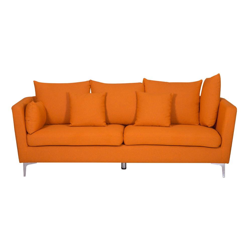 Fabric Sofa: (220×54/87×46/90)cm, Light Orange 1