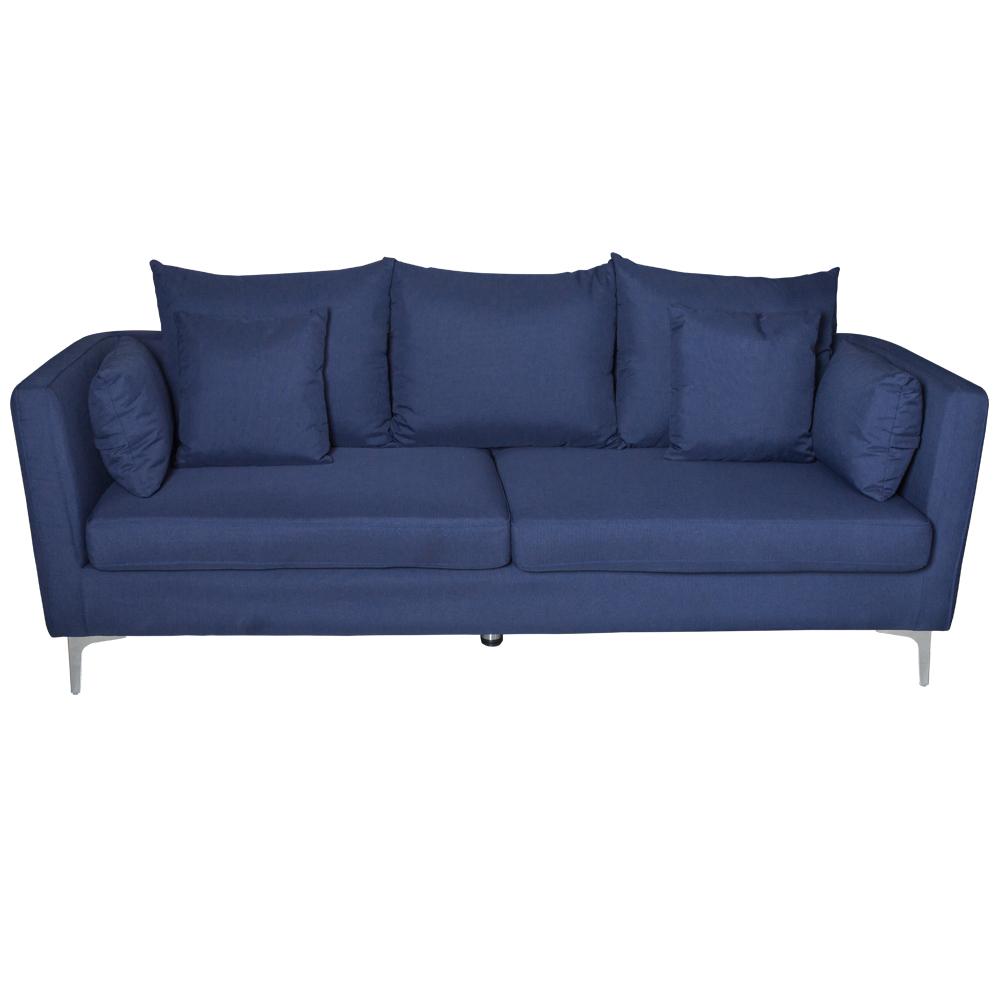 Fabric Sofa: (220×54/87×46/90)cm, Sawana Dark Blue 1