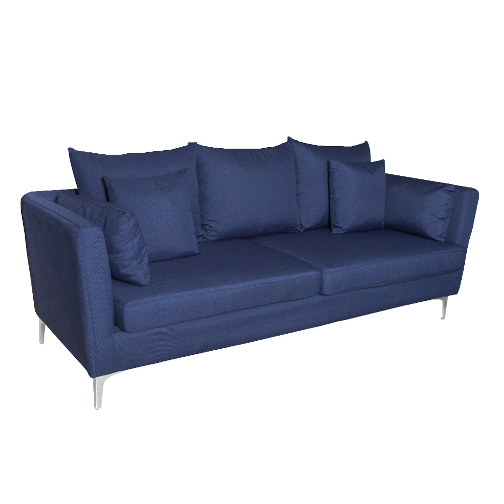 Fabric Sofa: (220x54/87x46/90)cm, Sawana Dark Blue