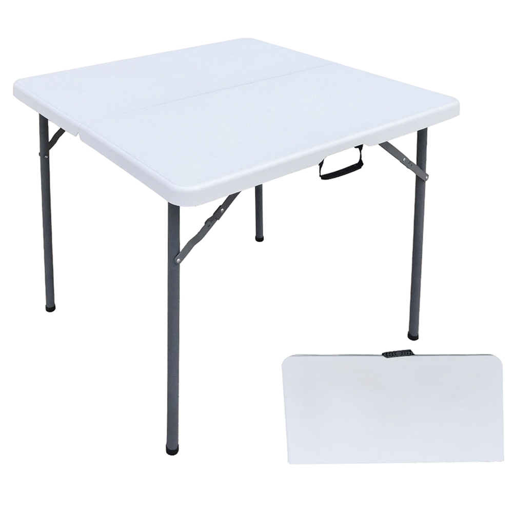 Outdoor Folding Square Table; (86x86x71)cm