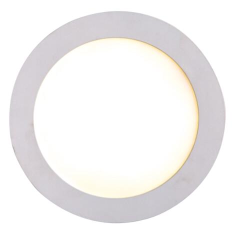 LED Recessed Round Panel Light; 12W, 3000K  1