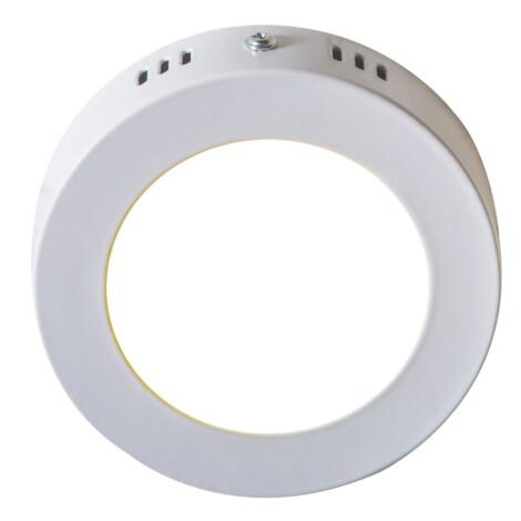 LED Surface Round Panel Light; 6W, 3000K  1