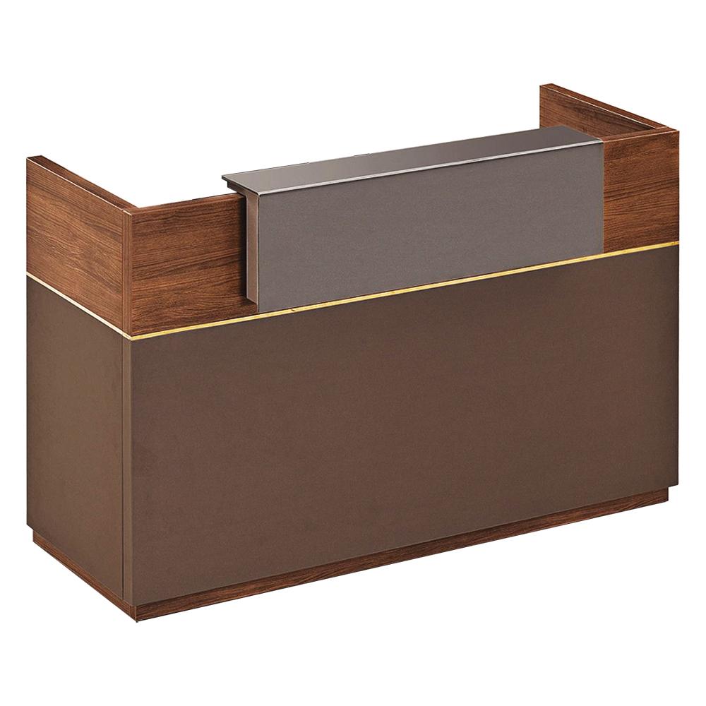 Reception Desk: (160x60x105)cm, KingWalnut/Kano Grey 1