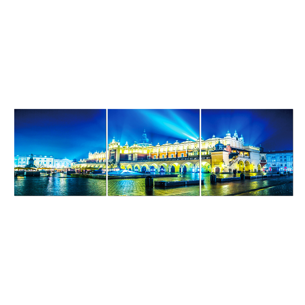 City scape: Printed Painting Set + Frame 3pc: (60×180)cm 1