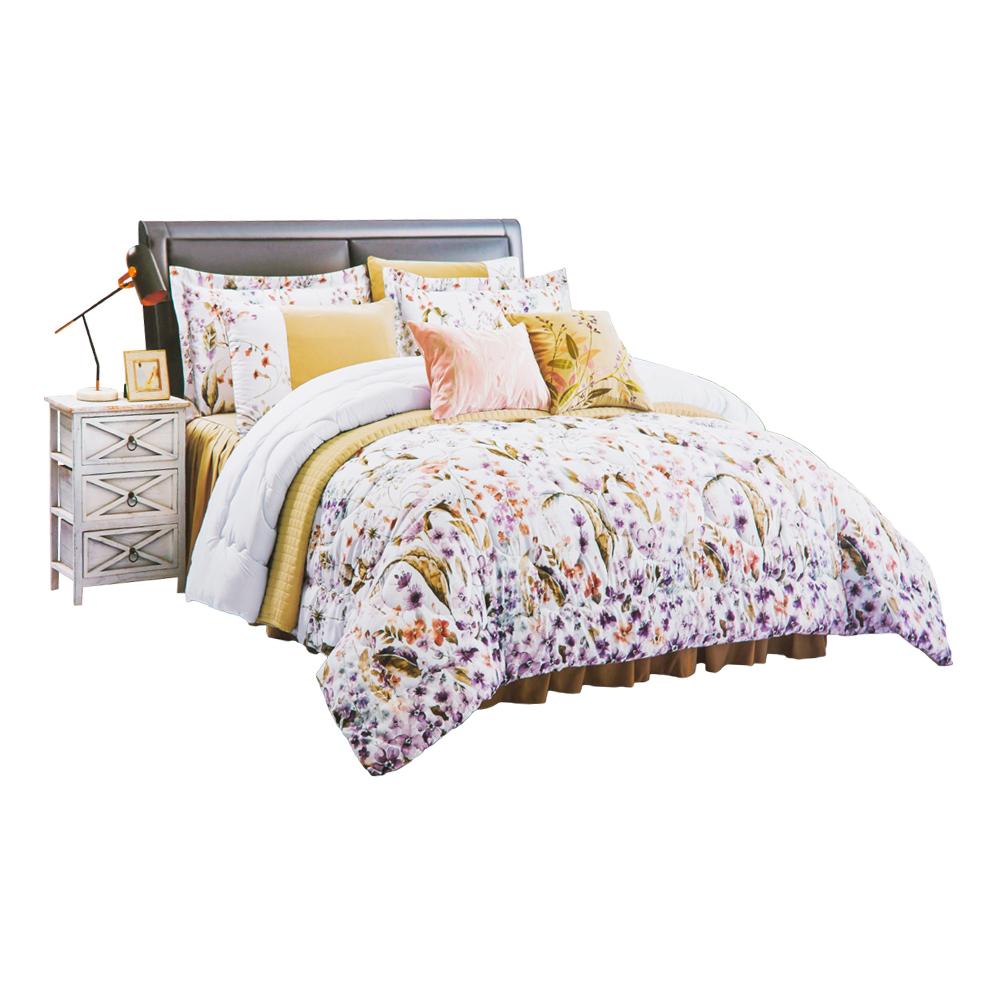 Microfiber Comforter-4pc, Single: (180×240)cm 1