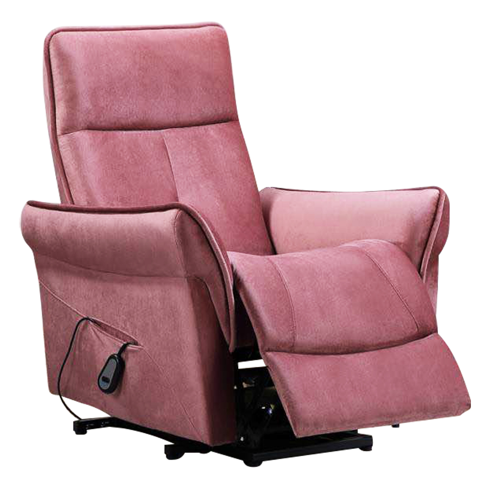 Single Seater Recliner; (85x87x105)cm, Light Pink 1