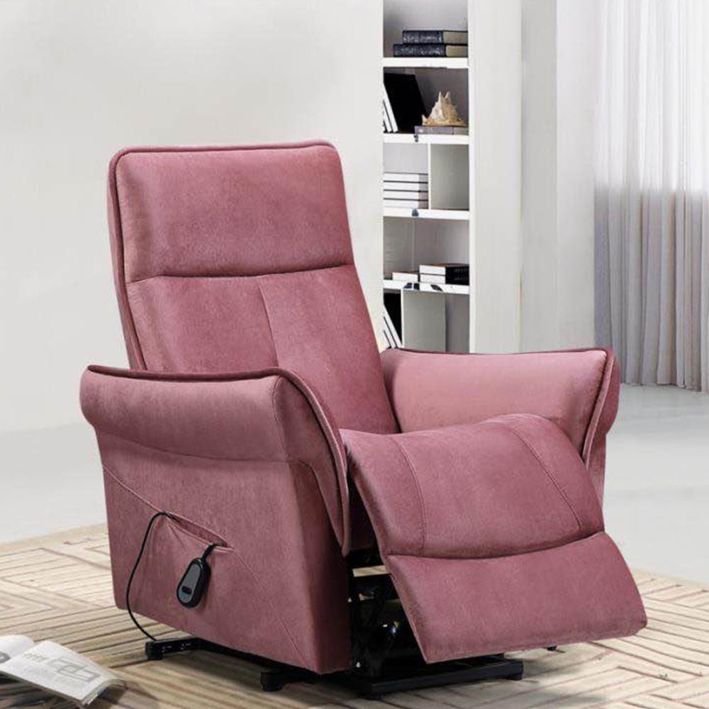 Single Seater Recliner; (85x87x105)cm, Light Pink