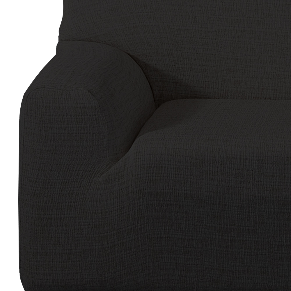 Stretch Sofa Cover For 1-Seater, Black