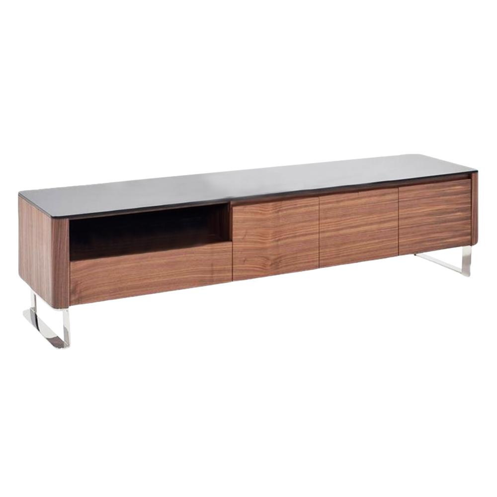 TV Cabinet; Wooden: (200x45x50)cm, Light American Walnut 1