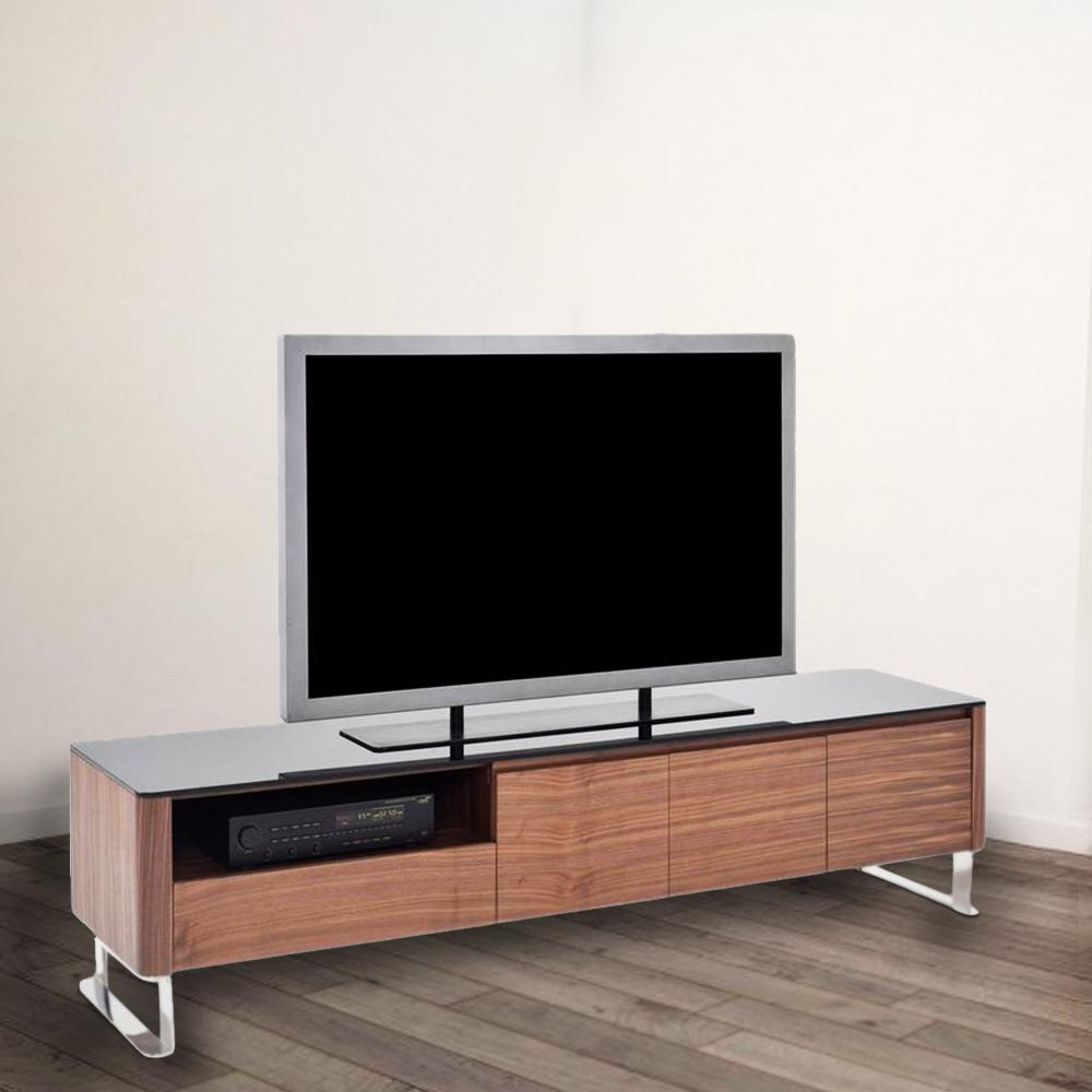 TV Cabinet; Wooden: (200x45x50)cm, Light American Walnut