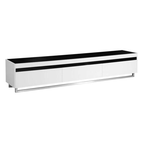 TV Cabinet: (200x40x40)cm, White/Black 1