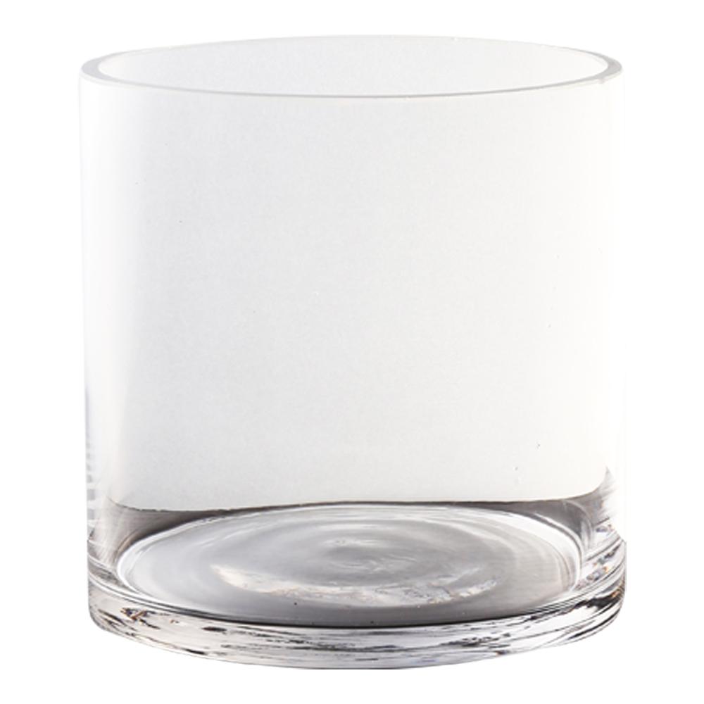 Domus: Black Glass Vase: 15cm 1