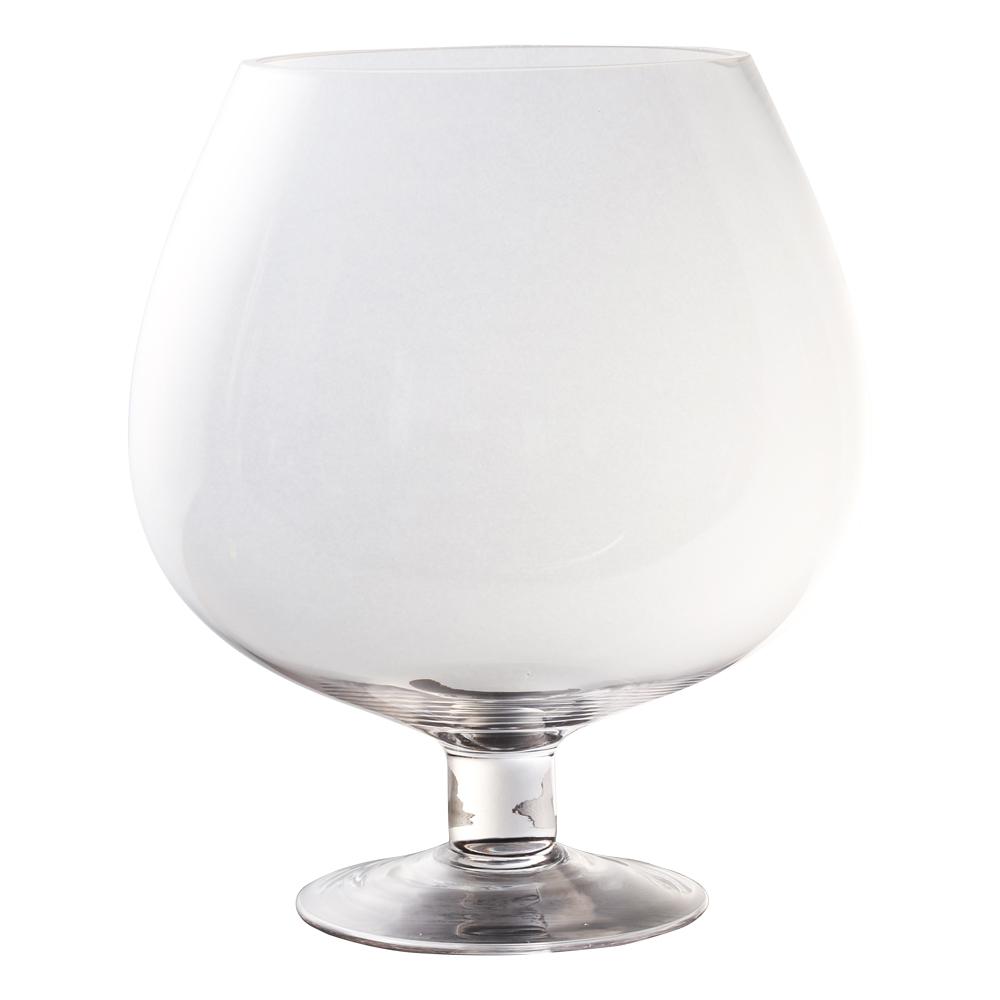 Domus: Clear Glass Vase: 26cm 1