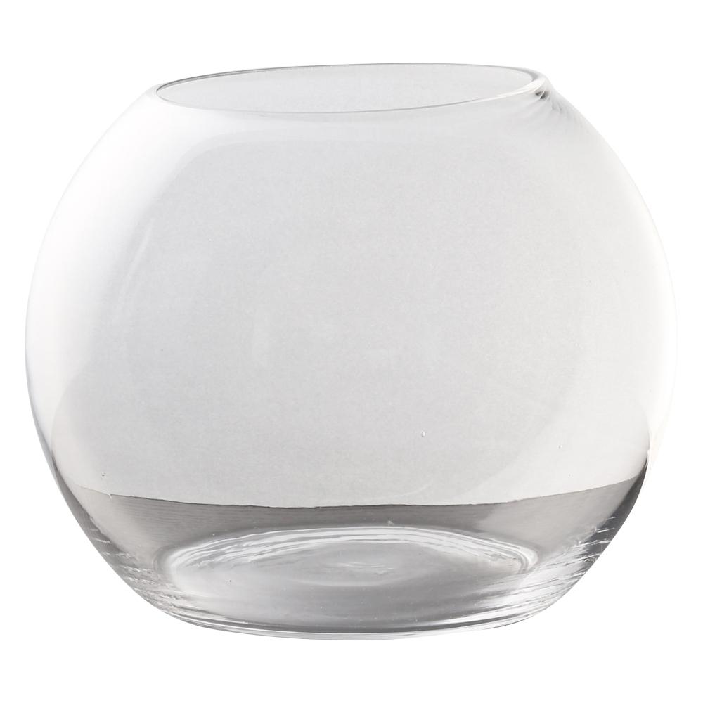 Domus: Clear Glass Vase: 15cm 1