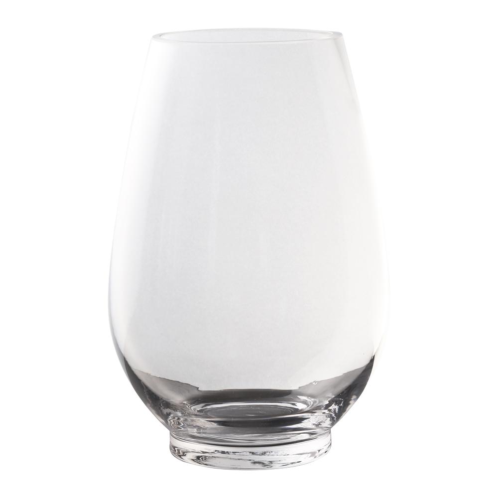 Domus: Clear Glass Vase: 23cm 1