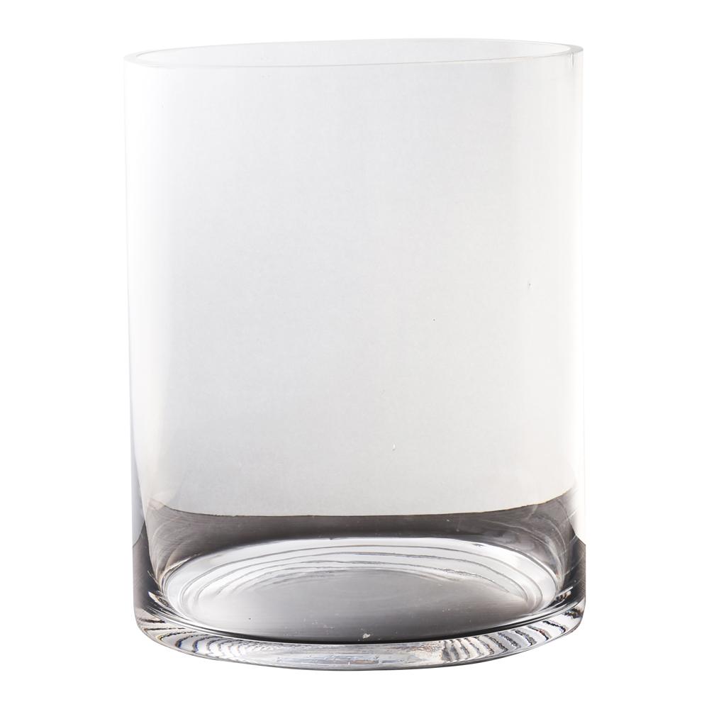 Domus: Clear Glass Vase: 25cm 1