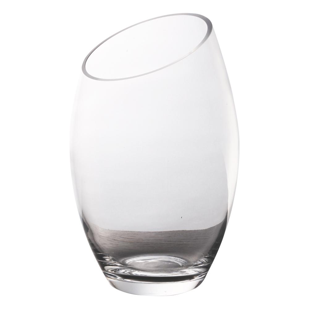 Domus: Clear Glass Vase: (24×18