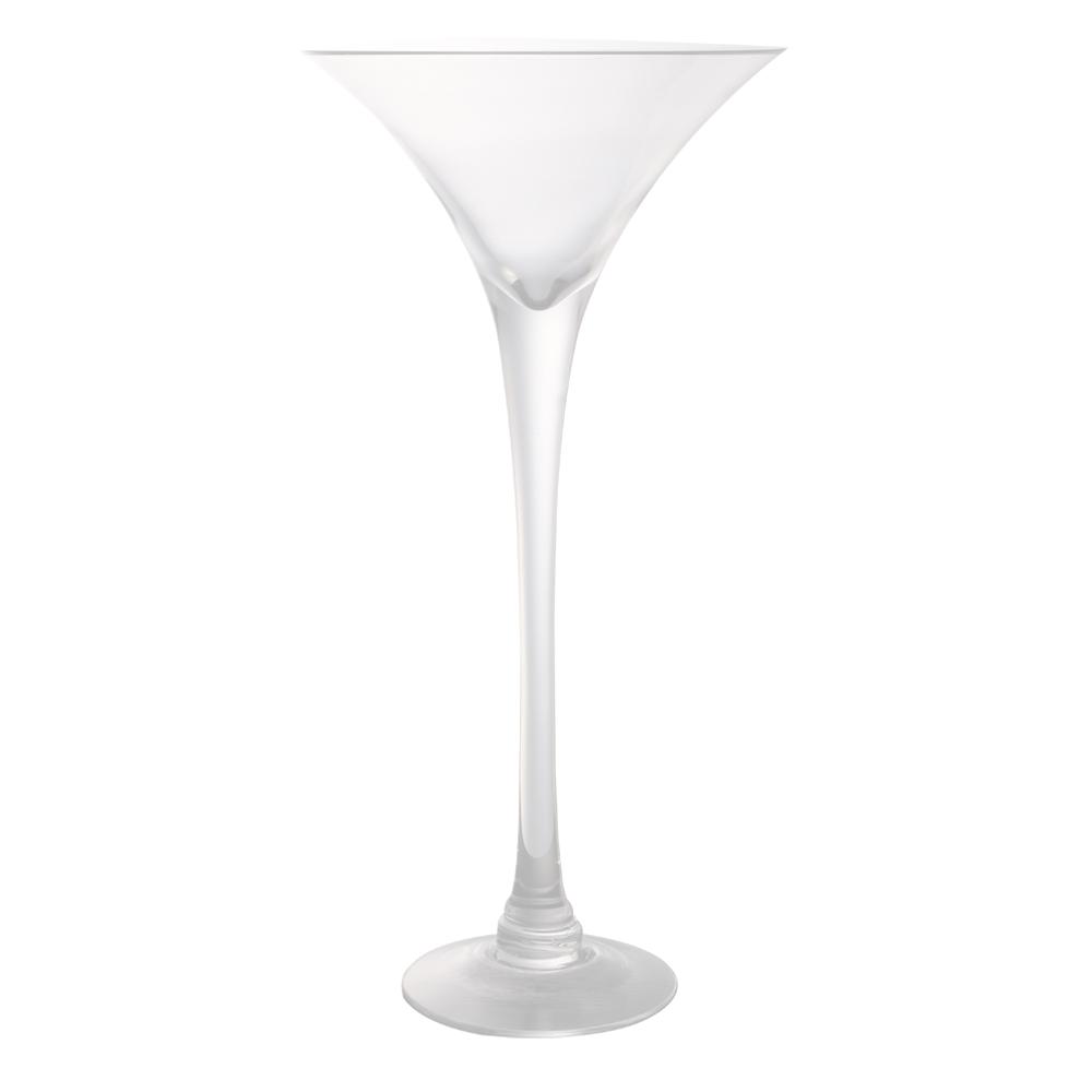 Domus: Clear Glass Vase: 50cm 1