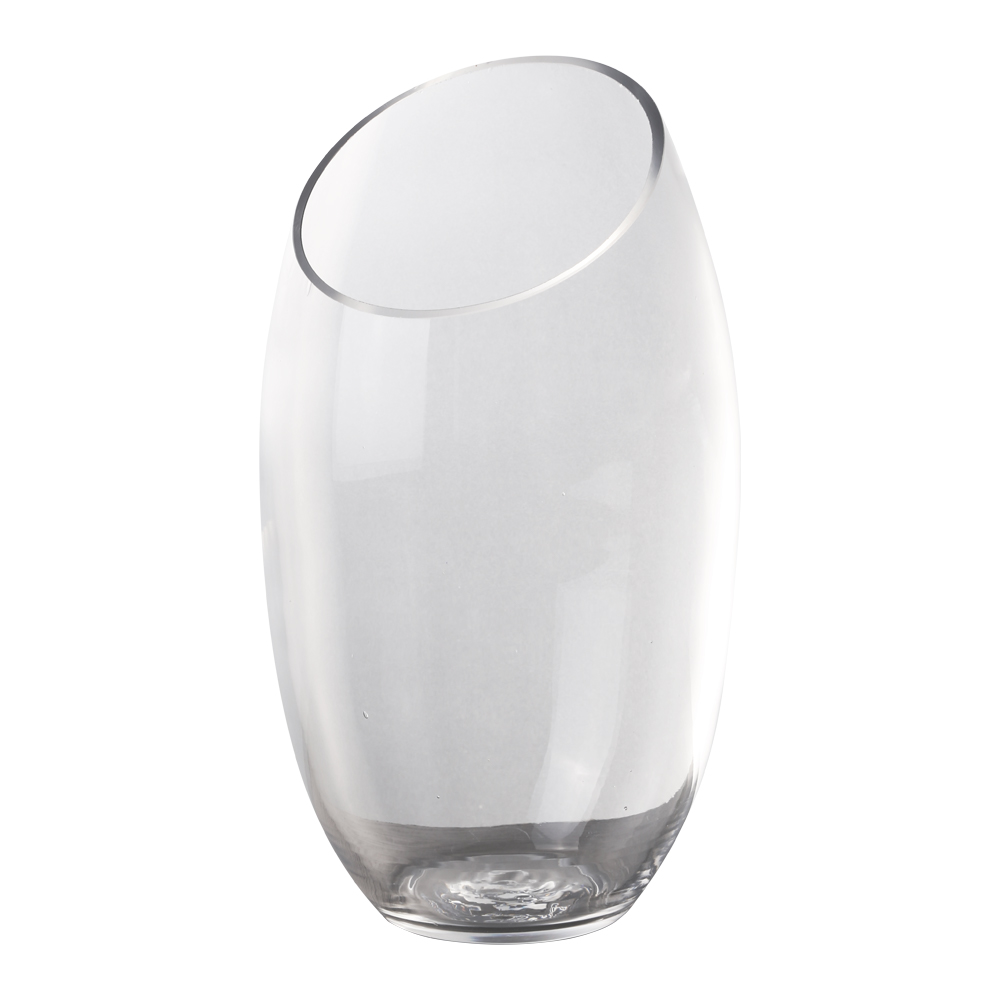 Domus: Clear Glass Vase: (27×20)cm 1