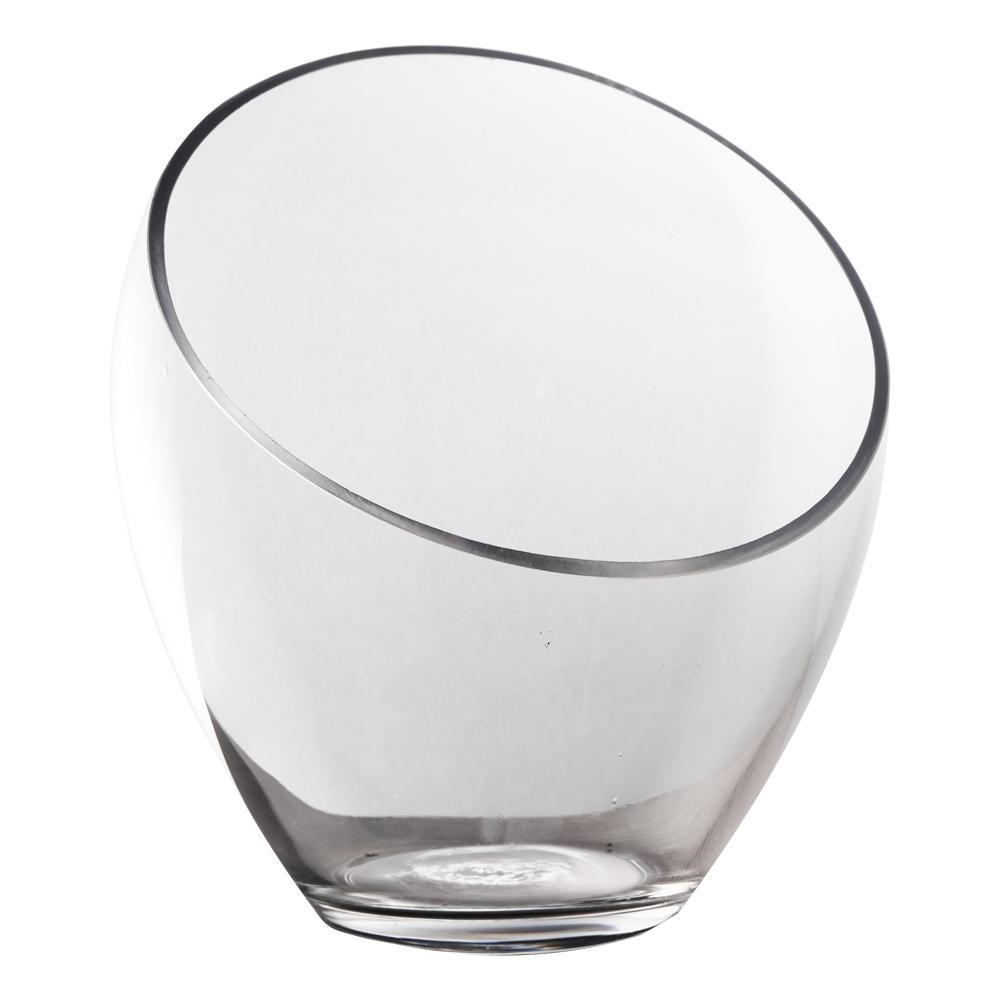 Domus: Clear Glass Vase: (22×10
