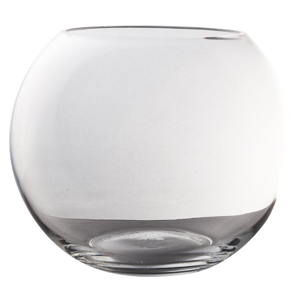 Domus: Clear Glass Vase: 18cm 1