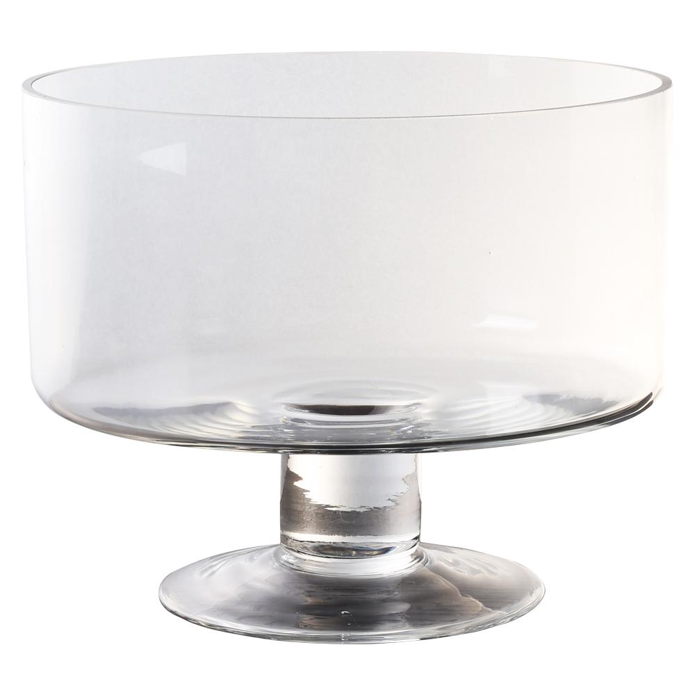 Domus: Clear Glass Vase: 20cm 1