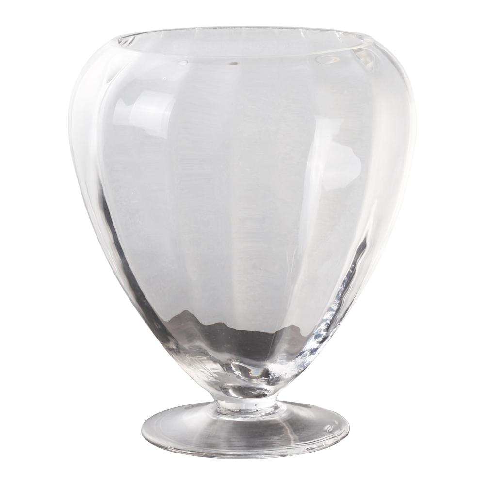 Domus: Clear Glass Vase: 21cm 1