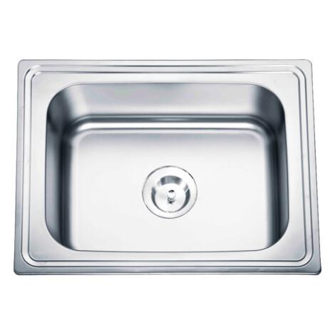 Stainless Steel Laundry/Kitchen Sink: Single Bowl + Waste, (63×50)cm, Matt 1
