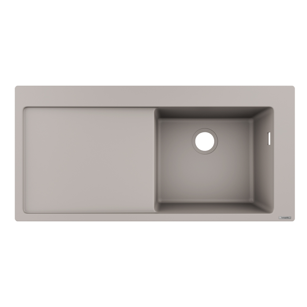 Hansgrohe: Built-In Sink 450 With Drainer, SB/SD; Concrete Grey 1