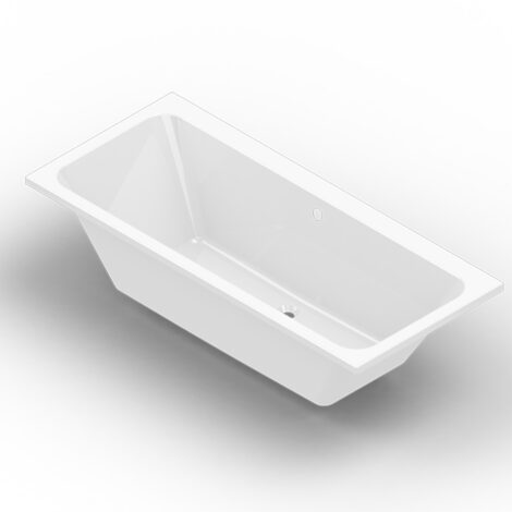 Verna: BathTub 180x80cm + Legs, White 1