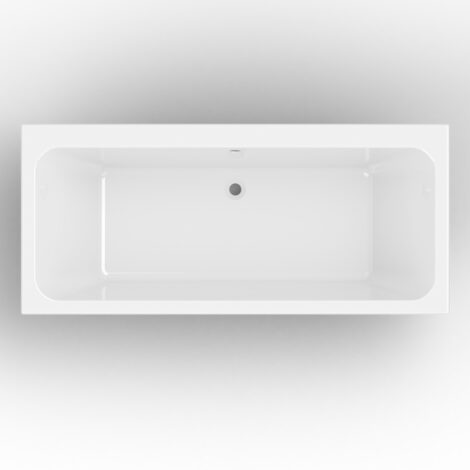 Verna: BathTub 180x80cm + Legs, White