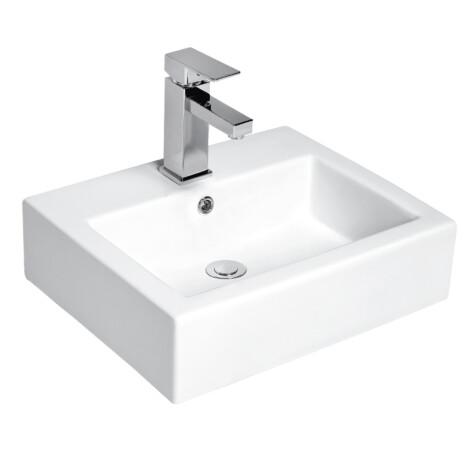 Nova: Counter Top Basin : (50)cm, 1Tap Hole, White