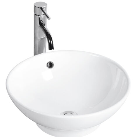 Nova: Counter Top Basin : (40.5)cm, 1Tap Hole, White